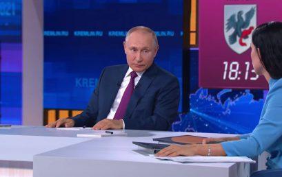 Прямая линия с Владимиром Путиным. Здравоохранение: главное